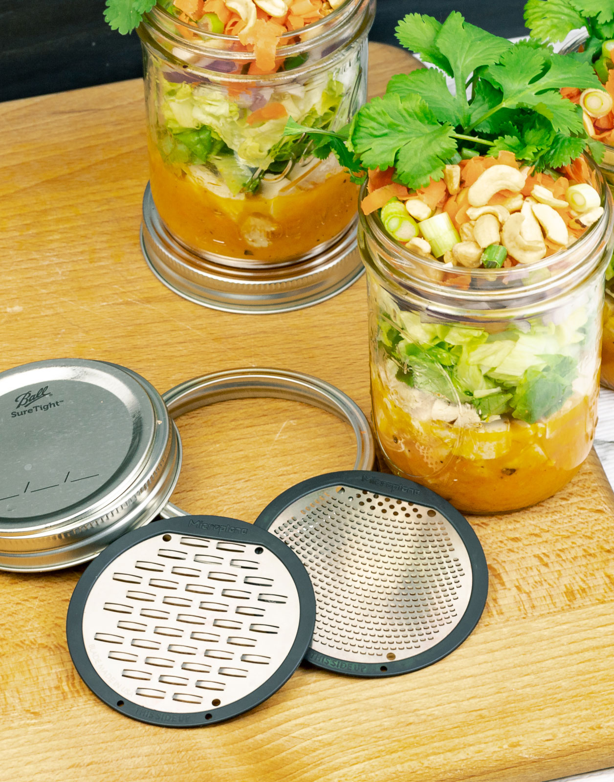 Chicken Salad with Carrot Ginger Dressing