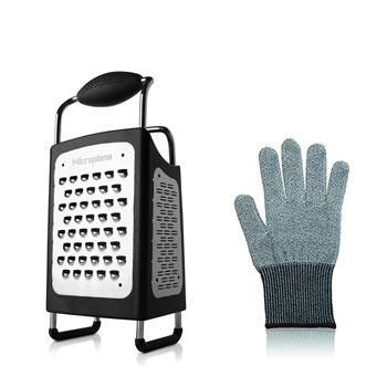 4 Sided Box Cheese Grater with Glove Gift Set