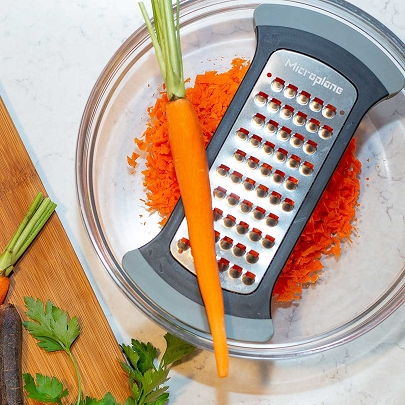 Mixing Bowl Grater Extra Coarse Grater for Cauliflower Rice - Black and Grey