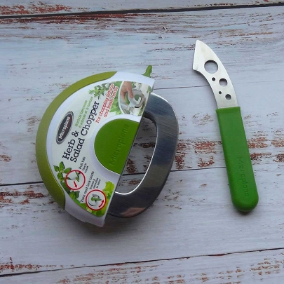 Herbs and Leafy Greens Bundle 2pc Set - Herb Stripping tool and Herb Chopper