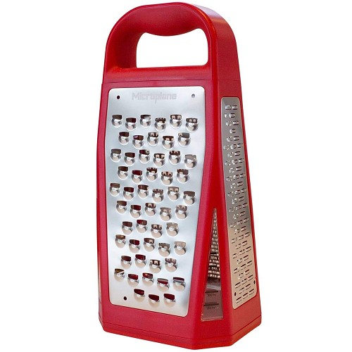 Elite Five Blade Four-Sided Box Cheese Grater - Red
