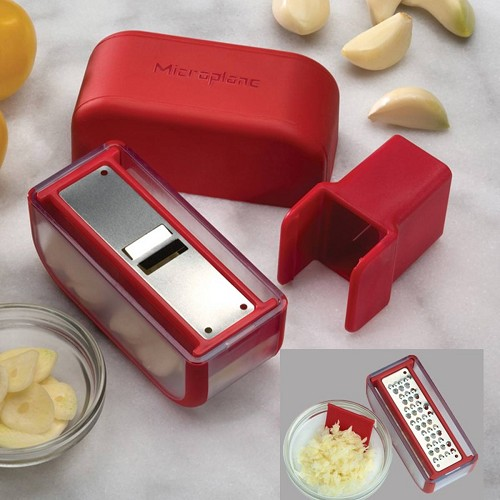 Garlic Slicer Mincer Set - Red